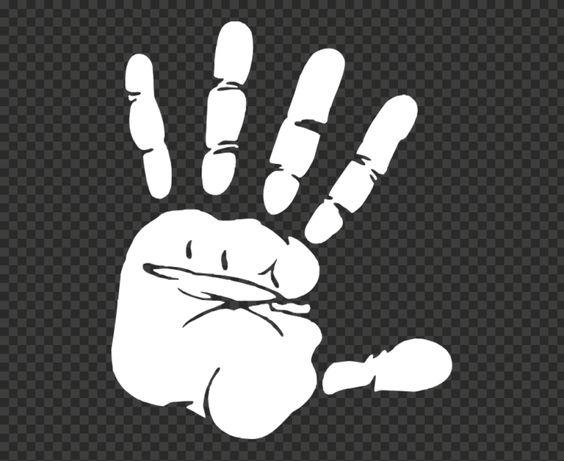 Hd White Stop Realistic Hand Silhouette Icon Symbol Png Hand Silhouette Symbols Icon