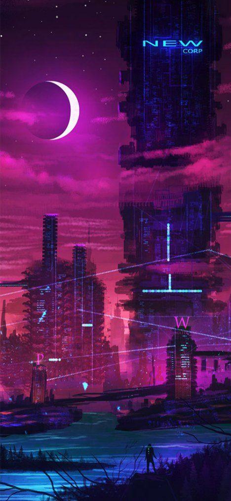 50 High Quality Iphone Wallpaper Background For 6 7 8 X Cyberpunk City Cyberpunk Aesthetic Cyberpunk Art