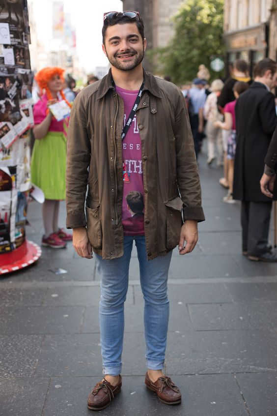 We travelled to Scotland to visit this year's Edinburgh Fringe Festival – we spotted Edward wearing his ever reliable 6 year old Barbour Wax Jacket!