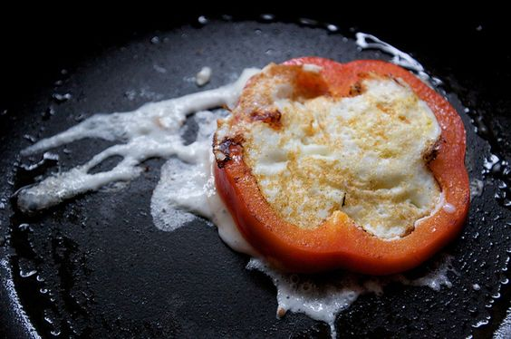 Bell Pepper Egg-in-a-hole | Food- meals and recipes | Pinterest | Eggs ...