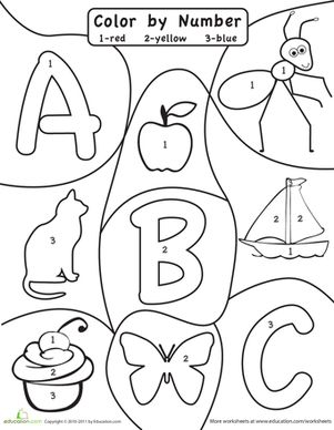 Printables Abc Worksheets For Pre-k colors number worksheets and the ojays on pinterest preschool alphabet color by abc 123