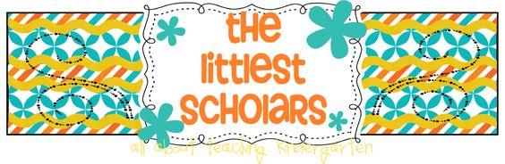 The Littlest Scholars - All About Teaching Kindergarten Blog