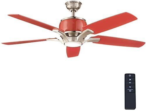 Buy Red Raymont 52 In Integrated Led Indoor Brushed Nickel Red