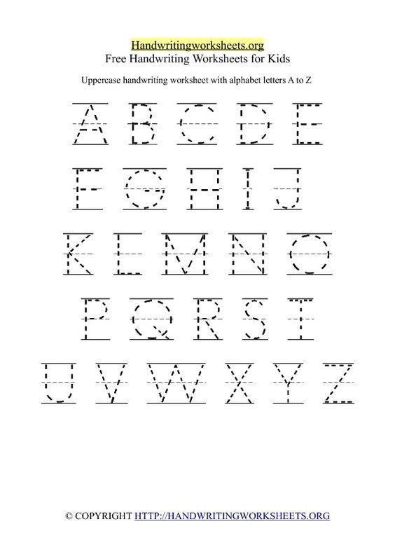 Uppercase Handwriting Worksheet A-Z, also lowercase | camp ...
