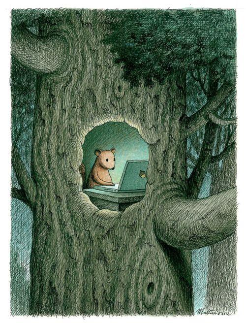 L'écureuil.