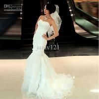 Wholesale Star Elegant line small trailing marriage gauze fishplate to bridal gowns new wedding dress