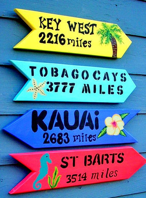 tropical sign ideas
