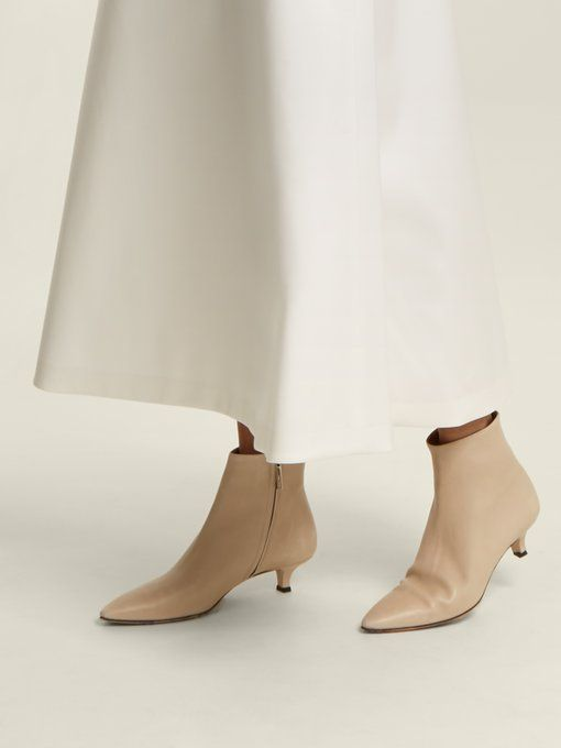 Coco point-toe leather ankle boots
