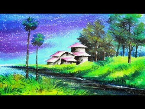Oil Pastel Painting Scenery Drawing Of Nature Oil Pastel Paintings Oil Pastel Oil Pastel Art