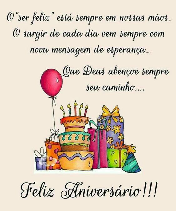 Que Deus abençoe sempre seu caminho, feliz aniversário!