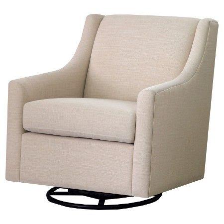 Norwalk Swoop Arm Swivel Rocker Chair Cream - Threshold™ : Target