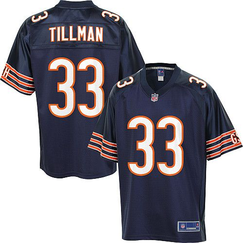 Men's Pro Line Chicago Bears Charles Tillman Team Color Jersey