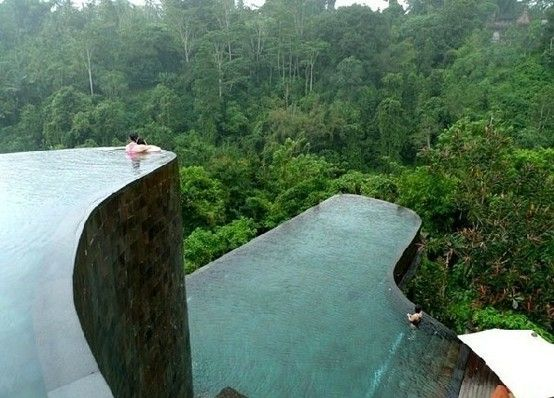 hanging garden hotel pools in Bali