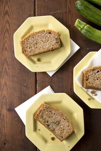 ZUCCHINI BREAD // Paula Deen's recipe, I halved the recipe, added 1 tsp vanilla and a mashed banana and it made 3 d'lish mini loaves