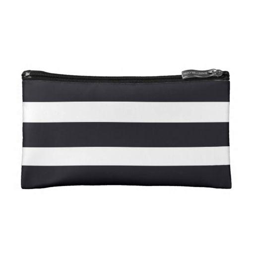 Cosmetic Bags Cosmetic Bag Black & White Stripes. $27.95