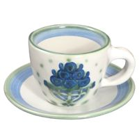 Hadley Pottery's Cup and Saucer. Perfect for your morning tea. $24.50