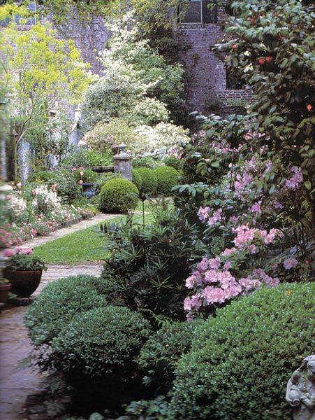 Emily Whaley's Garden in Charleston, South Carolina was designed by Loutrel Briggs in 1940. The symmetrical design includes three garden rooms, along a central axis and plantings of azaleas, camellias, and hydrangeas, ferns, annuals, perennials and flowering and evergreen shrubs. Learn more at http://tclf.org/landscapes/emily-whaley's-garden: