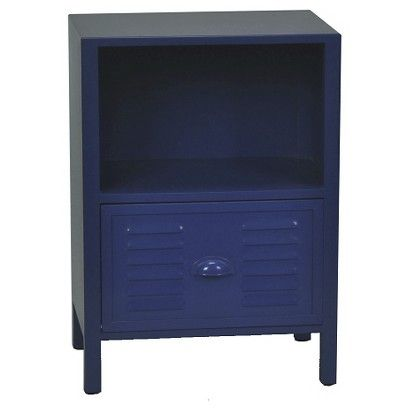 Kids Accent Table Locker Front Blue - nightstand for Luke's big boy room?