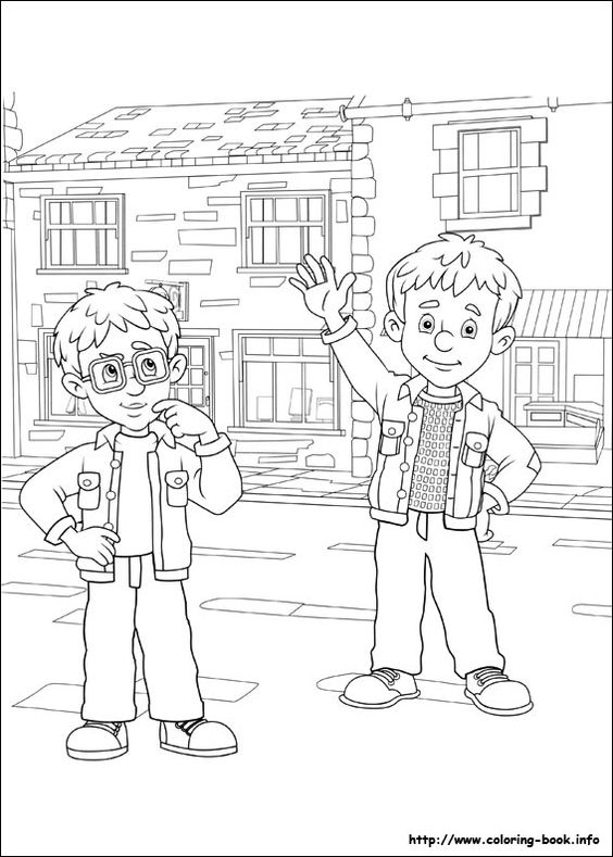 Fireman sam coloring page coloring pages and printables for Coloring pages fireman sam
