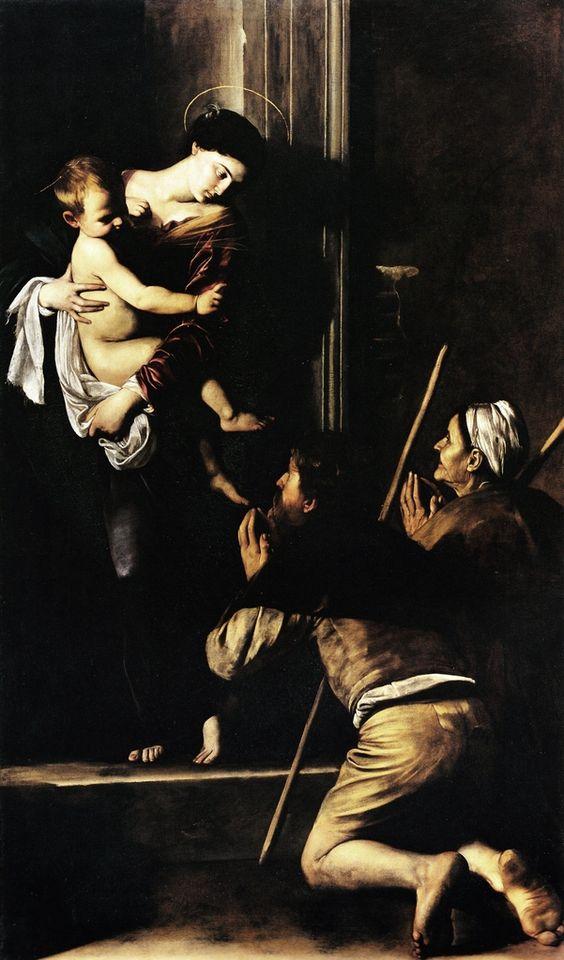 Caravaggio - Madonna dei Pellegrini - 1604-1605
