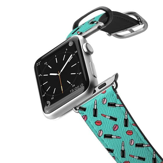 Apple Watch Band Lipstick Teal Pattern By Organic Saturation In