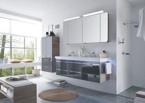 Badmobel Set Mit Spiegelschrank Von Pelipal In 2020 Doppelwaschtisch Mit Unterschrank Doppelwaschtisch Unterschrank