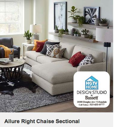 Custom Furniture At Hgtv Home Design Studio By Bassett In Des Moines Iowa Stop In To Have Us Help With Bassett Furniture Living Room Furniture Home Furniture