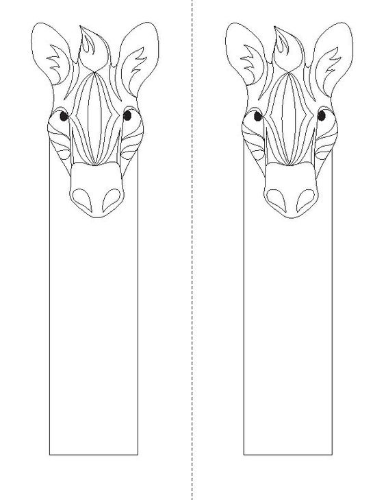 bookmarks to color | Animal Coloring Bookmarks « Children's Book ...