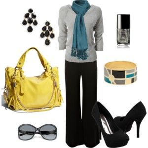 Like the teal with light grey sweater