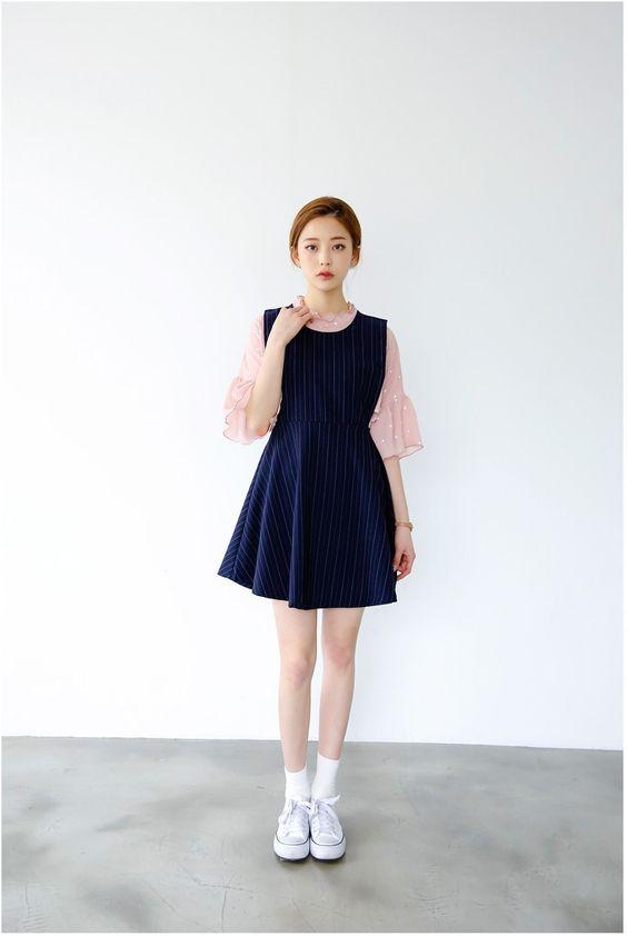 Frill Dot Blouse   Korean Fashion
