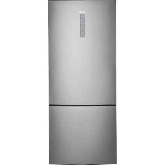Haier 15 Cu Ft Bottom Freezer Refrigerator Stainless Steel Hrb15n3bgs Best Buy Bottom Freezer Refrigerator Bottom Freezer Refrigerator