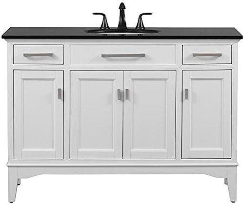 """Manor Grove Wide Bath Vanity, 35""""Hx49""""Wx21.5""""D, WHITE Home Decorators Collection http://www.amazon.com/dp/B00KBZ23QI/ref=cm_sw_r_pi_dp_vTxSwb0NQSM06"""