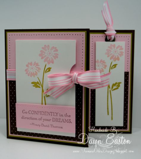 This is so very pretty! A handmade card with a removable bookmark... how clever!