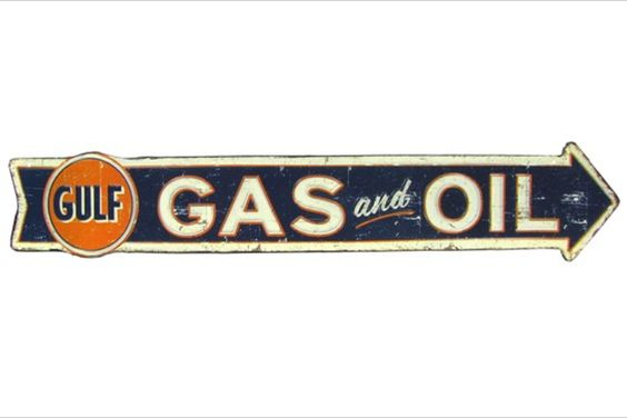 Vintage Gulf Gas and Oil Sign