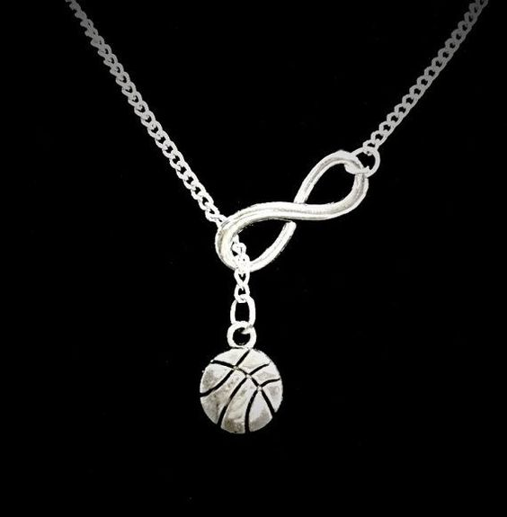 Infinity Basketball Sports Y Lariat Necklace by HeavenlyCharmed
