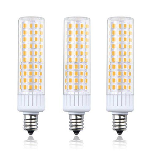 Aluxcia 8 5w E12 Led Light Bulb T3 T4 Candelabra Base E12 Ceiling Light 100w Halogen Replacement Candel Corn B Ceiling Fan Chandelier Led Light Bulb Light Bulb