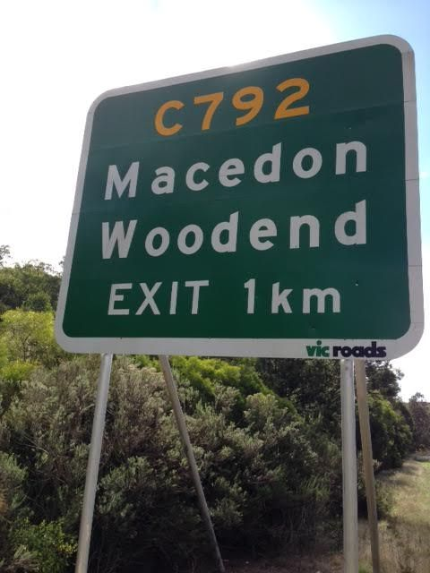 Woodend turn off on the Calder Freeway