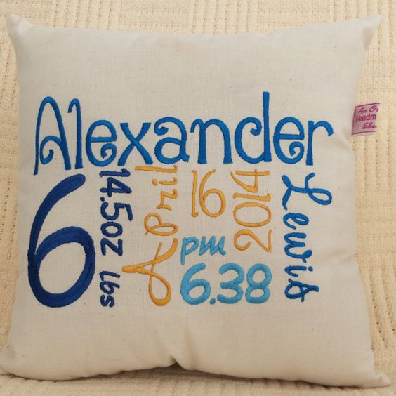 Celebrate that new born with a personalised cushion