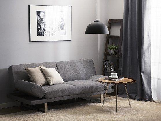 Vuodesohva Vaaleanharmaa York Sofa Bed Bed Lights Fabric Sofa