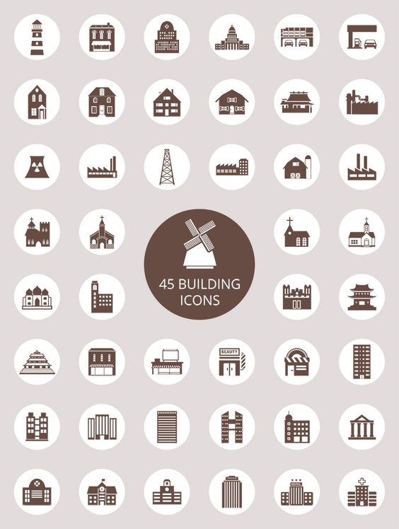 Free download: Building Icons Set