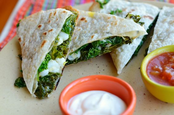 Hominy-kale Quesadilla  Always looking for recipes to use kale, so good for you!