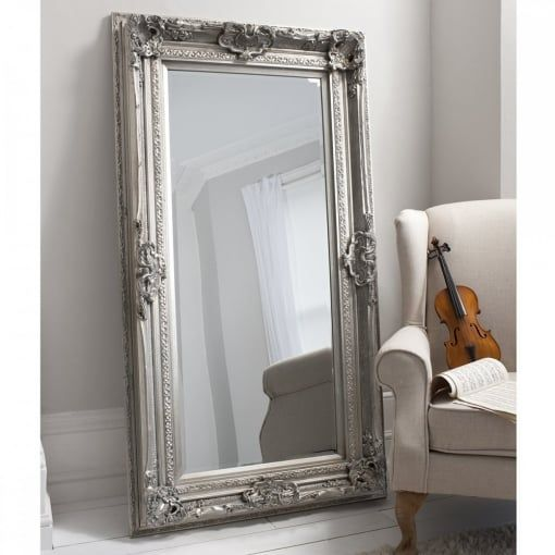 Gallery Home Valois Leaner Mirror Silver 1845x990mm Gallery Home From House Of Isabella Uk Silver Wall Mirror Leaner Mirror Mirror