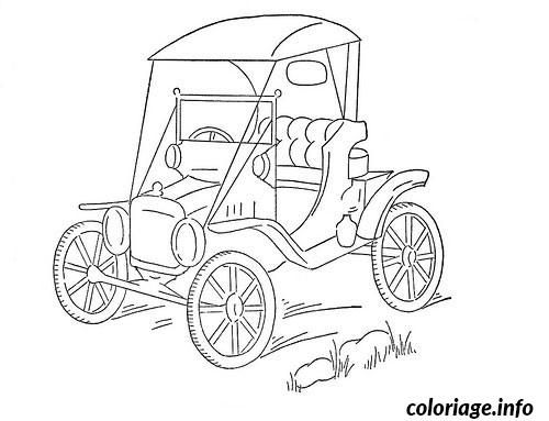 Coloriage Image Voiture De Collection Dessin A Imprimer Tractor Crafts Embroidery Transfers Coloring Books
