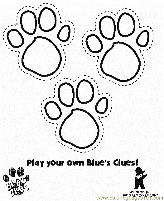 Bear Paw Print Coloring Page