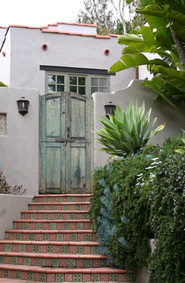 Another example of a palish spanish green for exterior for Spanish style window shutters