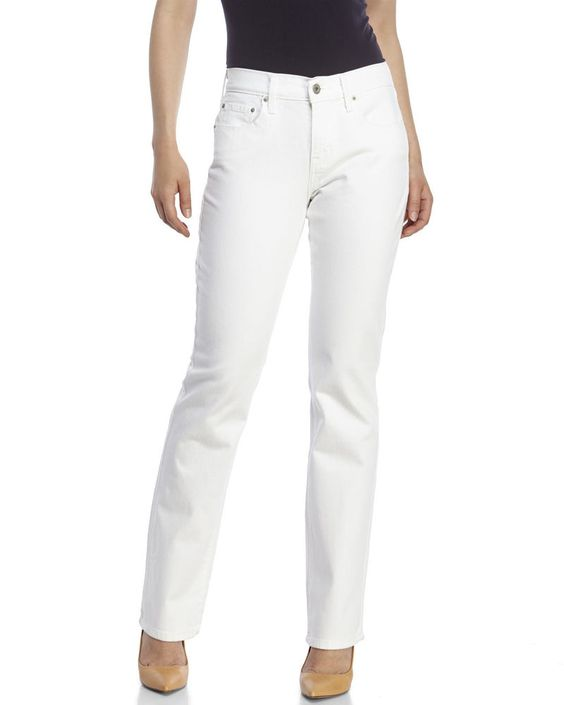 Levi's 505 women's jeans straight leg mid rise white solid size 12 ...