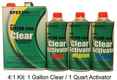 Amazon Com Speedokote Clear Coat 2k Acrylic Urethane Smr 1150 1102 Q 4 1 Gallon Clearcoat Medium Kit Automotive Clear Coat Gallon Media Kit