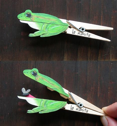 frog clothes pin