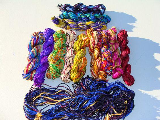 Beautiful And Soft And Shiny Kohinoor Silk Yarn by hippiechixfiber, $9.50