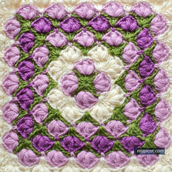 MyPicot Free crochet patterns - Crochet Square blanket ...